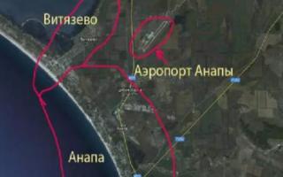 Анапа аэропорт на карте