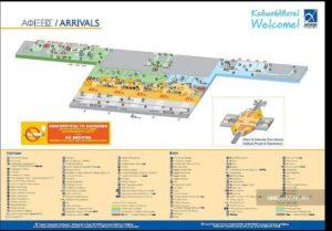 Схема аэропорта Афины