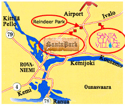 Схема аэропорт Рованиеми