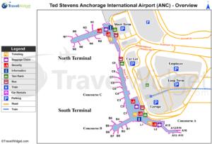 схема аэропорт Анкориджа