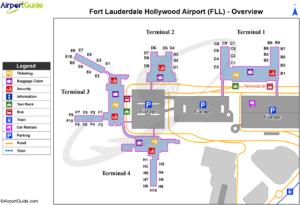 схема аэропорт Форт-Лодердейл