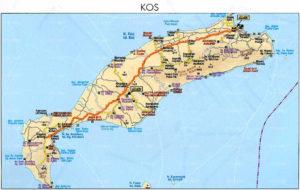Схема аэропорт острова Кос