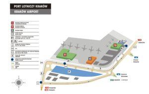 схема аэропорт Кракова