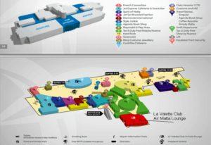 Карта аэропорта Мальта Лука