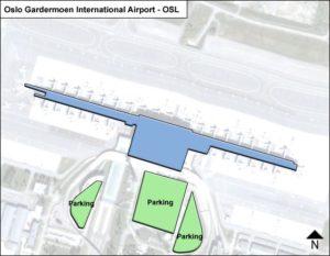 Схема аэропорт Осло Гардермуэн