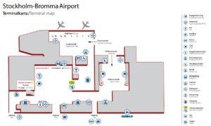 схема аэропорт Стокгольм Бромма