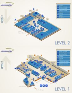 Схема аэропорт Лутона