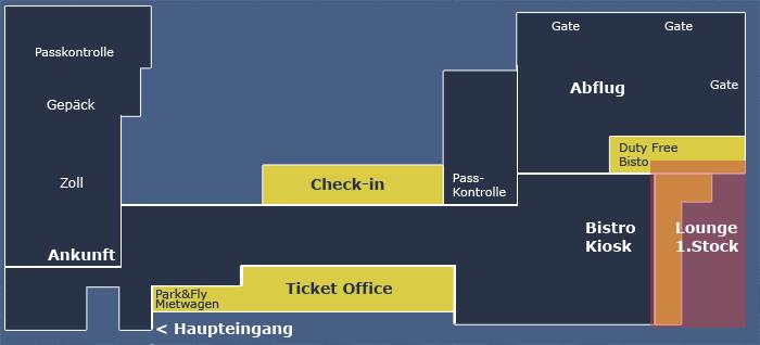 Схема аэропорта Берн