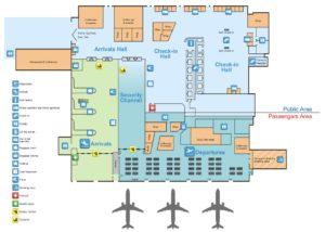 Схема аэропорта Тираны
