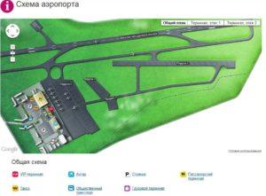 Схема аэропорт Харьков