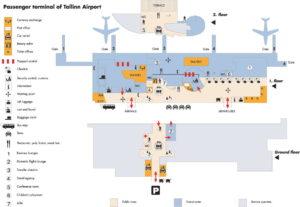 Карта аэропорта Талинна