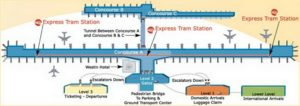 схема аэропорт Детройта