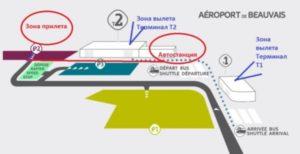 схема аэропорт Бове