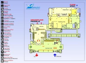 схема аэропорта Сараево