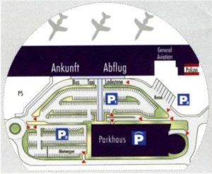 Схема аэропорт Клагенфурт
