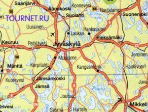 схема аэропорт Ювяскюля