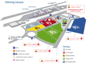 Схема аэропорт Монпелье