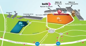 Схема аэропорта Бордо