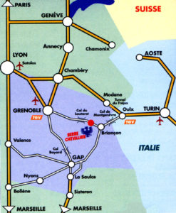 Схема аэропорт Гренобль