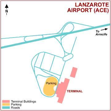 Схема аэропорта Лансароте