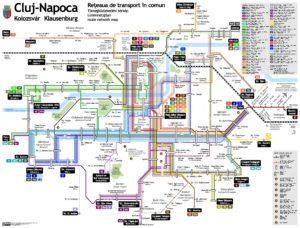 схема Международный аэропорта Клуж-Напока