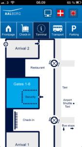 схема Международный аэропорт Ольборг