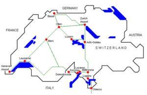 Схема аэропорт Лугано
