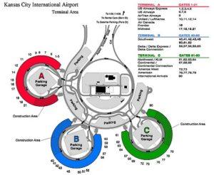Схема аэропорта Канзас Сити