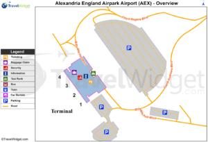 Схема аэропорта Александрия