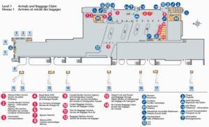 Схема аэропорта Оттава