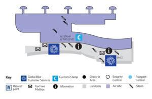 Схема аэропорта Касабланки