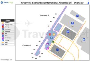 Схема аэропорта Гринвилл