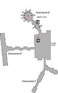 Схема аэропорта Милуоки