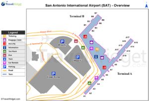 Схема аэропорта Сан Антонио