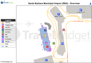 Схема аэропорта Санта-Барбары