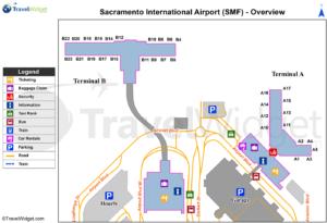 Схема аэропорта Сакраменто