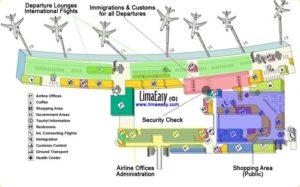 Схема аэропорта Лима
