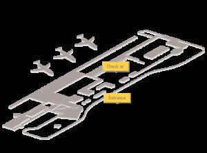 Схема аэропорта Косумель