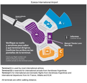 Схема аэропорта Эсейса