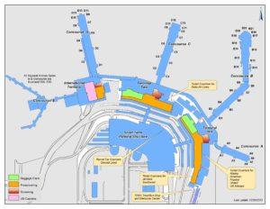 Схема аэропорта Солт-Лейк-Сити