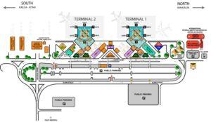 Схема аэропорта Мауи