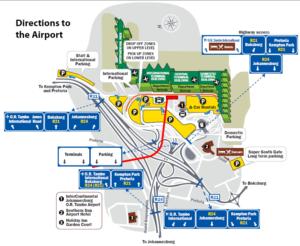 Схема аэропорта Йоханнесбурга