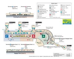 Схема аэропорта Рейган