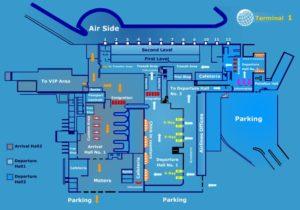 Схема аэропорта Каира