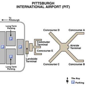 Схема аэропорта Питсбурга