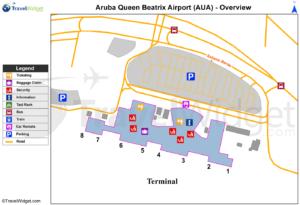 Схема аэропорта Оранжестад