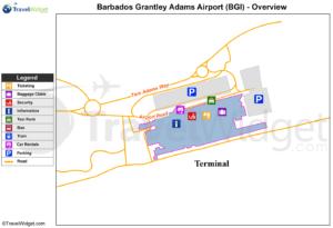 Схема аэропорта Бриджтаун