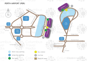 Схема аэропорта Перт