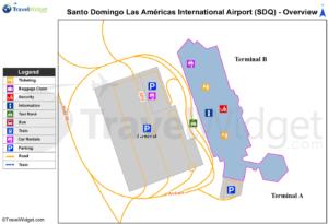 Схема аэропорта Санто-Доминго