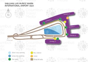 Схема аэропорта Сан-Хуан